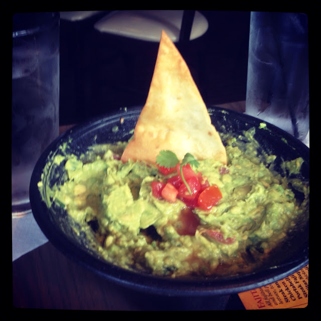 GF guacamole appetizer served with a non GF pita sticking out of it. Pita was not mentioned on the m