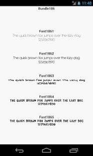Fonts for FlipFont 186 - screenshot