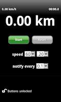 Screenshot of Rally Clock (old version)
