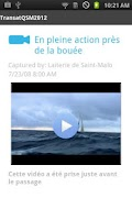 Screenshot of Transat Quebec St-Malo 2012