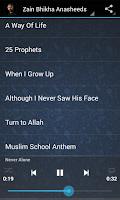 Screenshot of Zain Bhikha Anasheeds