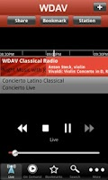 Screenshot of WDAV Classical Public Radio Ap