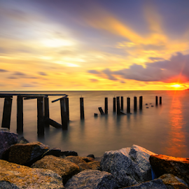 by Syazwan Shahril - Landscapes Sunsets & Sunrises ( waterscape, sunset, penang, malaysia, bridge )