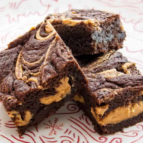 Chewy Peanut Butter Fudge Brownies