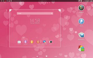 Screenshot of Xperia™ Pink Hearts Theme