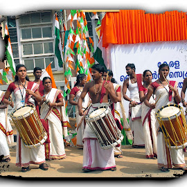 Musical group by Francesca Riggio - People Group/Corporate ( musical, street, kerala, india, group )