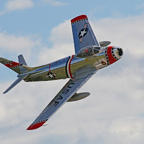 F-86 0-1 by Jeff Stallard - Transportation Airplanes ( north american, sabre jet, united states air force, f86, usaf )