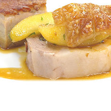 Roast Loin Of Pork, Pressed Belly Of Pork, Caramelised Apple Wedges With Broccoli And Mustard