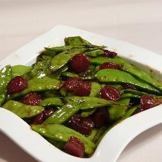 Chinese Sausage And Mangetout Stir Fry