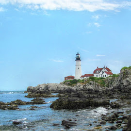 Portland Headlight Maine by Kirsi Bertolini - City,  Street & Park  Historic Districts