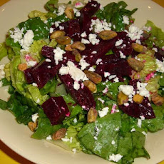 Beet Salad With Pistachios and Feta Cheese