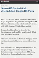 Screenshot of Berita Harian Online