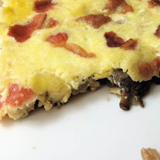 Frittata with Mushrooms, Bacon, and Parmesan