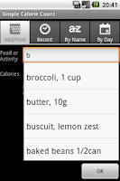 Screenshot of Simple Calorie Count