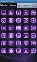 Screenshot of Neon Purple Style Go Launcher