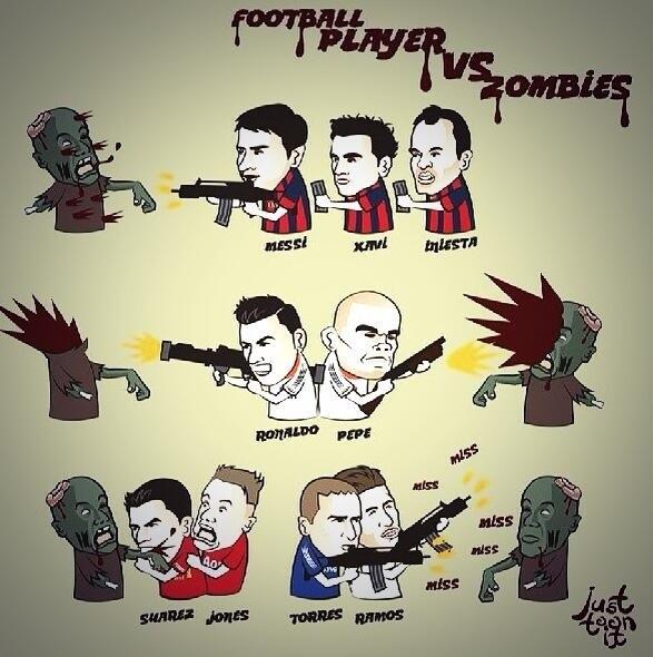 Ha a focisták zombikra vadásznának... - egy vicces kép