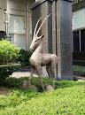 Long Horn Deer Sculpture
