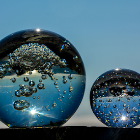 Double Bubble toil and....... by Jeanne Knoch - Artistic Objects Glass ( , Hope, serenity, blue, mood, factory, charity, autism, light, awareness, lighting, bulbs, LIUB, april 2nd )