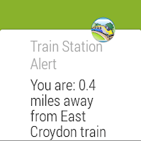 Screenshot of Train Station Alert