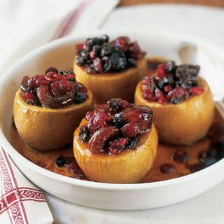 Baked Apples Filled with Apricots and Figs