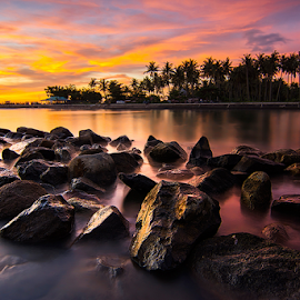 The Stones by Ade Noverzan - Landscapes Sunsets & Sunrises ( sunset, twilight, beach, stones, dusk )