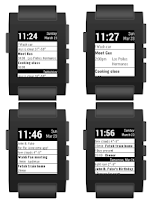 Screenshot of Pebble Agenda Watchface