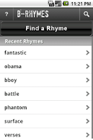 Screenshot of B-Rhymes Dictionary
