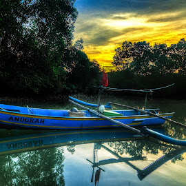 Fisherman Boat Parking by Yakkup Fauzan - Transportation Boats