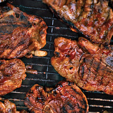 Barbecued Pork-Shoulder Chops