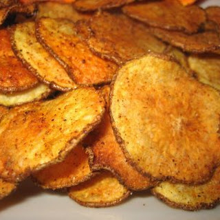 Baked Potato and Sweet Potato Chips