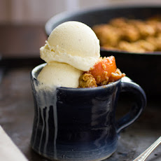 Maple Sugar, Bourbon, and Brown Butter Peach Crisp