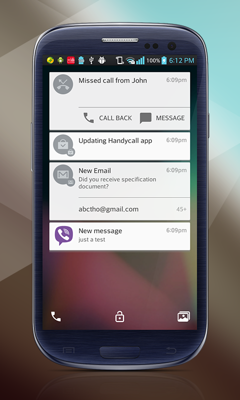 Lollipop Lockscreen Android L Screenshot 2