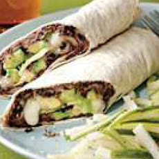 Black Bean and Avocado Burritos with Jicama-Cucumber Slaw