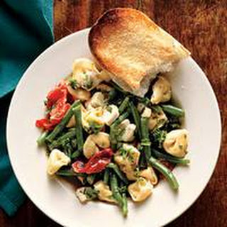 Warm Tortellini Salad with Roasted Tomatoes and Green Beans