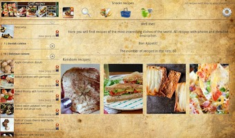 Screenshot of Snack recipes