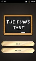 Screenshot of The Dumb Test (Moron test)