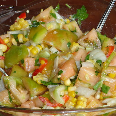 Green Tomato Corn Summer Salad