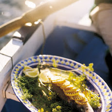 Grilled Striped Bass with Lemon and Fennel