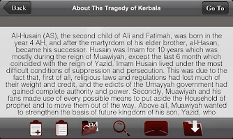 Screenshot of iDuas Muharram