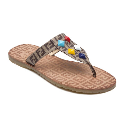 Fendi Decorative Thong Sandal FLIP FLOPS