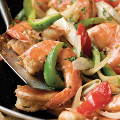 Chinese Trinidadian Stir-Fried Shrimp with Rum