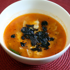 Dinner Tonight: Tortilla Soup with Fried Pasilla Chiles