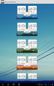 Sense V2 Flip Clock & Weather APK screenshot thumbnail 12