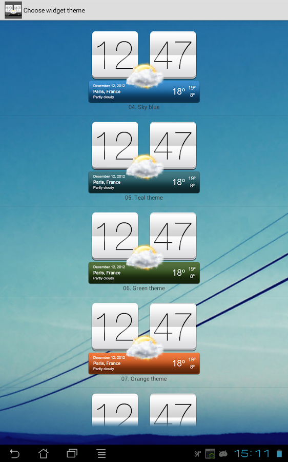 Sense V2 Flip Clock & Weather Screenshot 11