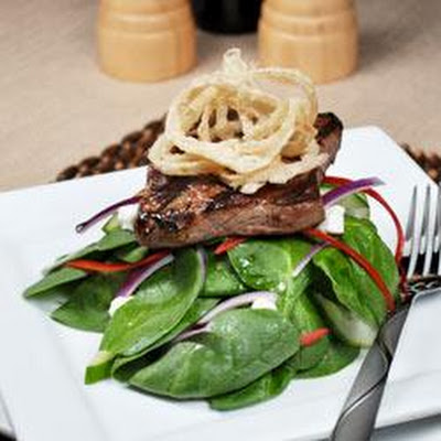 Spinach 'n' Steak Salad with Chipotle Honey Mustard