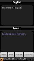 Screenshot of BabelFish Voice: French