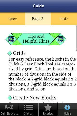 Quick & Easy Quilt Block Tool - screenshot