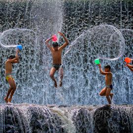 Jump by Indrawan Ekomurtomo - Babies & Children Children Candids