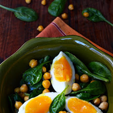Warm Chickpeas and Spinach Salad