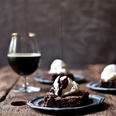 Pumpkin Porter Brownies Sundaes